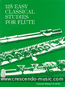 125 Classical studies for flute. Vester, Frans