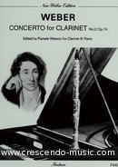 Concerto for clarinet no.2, Op.74. Weber, Carl Maria von