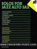 Solos for jazz alto sax. Album