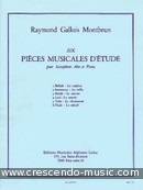 6 Pieces musicales d'etude. Gallois Montbrun, Raymond