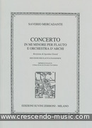 Concerto in mi minore. Mercadante, Saverio