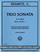 Trio sonata in G major, Op.14 no.1. Stamitz, Carl