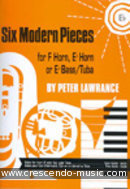 6 Modern pieces (Eb, treble clef). Lawrance, Peter