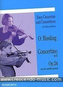 Concertino in G, Op.24. Rieding