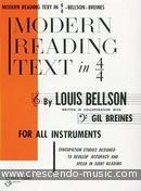 Modern reading text in 4/4. Bellson, Louis