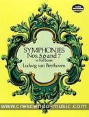 Symphonies nos.5, 6 and 7 in full score. Beethoven, Ludwig van