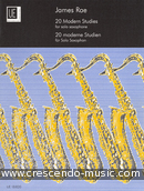 20 Modern studies for solo saxophone. Rae, James