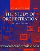 The study of orchestration (Workbook). Adler, Samuel