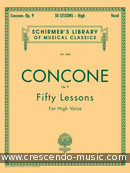 50 Lessons, Op.9 (High voice). Concone, Giuseppe