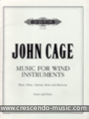 Music for wind instruments. Cage, John