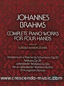 Complete piano works for four hands. Brahms, Johannes