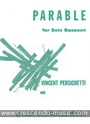 Parable for solo bassoon. Persichetti, Vincent