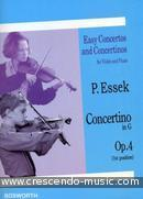Concertino in G, Op.4. Essek, Paul