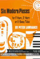 6 Modern pieces (Eb, Bass clef). Lawrance, Peter
