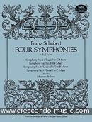 4 Symphonies in full score. Schubert, Franz
