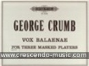 Vox balaenae (Voice of the whale). Crumb, George
