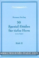 30 Spezial-Etuden fur Tiefes Horn - Band 2. Neuling, Hermann