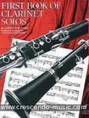 First book of clarinet solos. Album