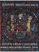 11 Great cantatas in full score. Bach, Johann Sebastian