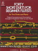 40 Short duets for beginner flutists. Album