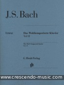 Das Wohltemperierte Klavier - Vol.2 (Without fingerings). Bach, Johann Sebastian