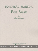 First sonata for flute and piano. Martinu, Bohuslav
