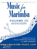 Intermediate method for marimba. Jolliff, Art