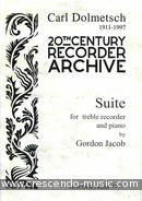 Suite for Treble Recorder and Strings (Piano reduction). Jacob, Gordon