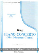 Piano concerto (First movement - theme). Grieg, Edvard