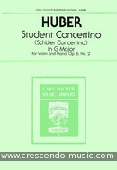 Student concertino no.2, Op.6. Huber, Adolf