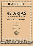 45 Arias - Vol.2 (High). Haendel, Georg Friedrich