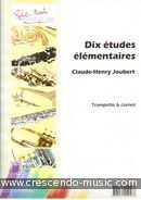 View a sample page! 10 Etudes elementaires - Joubert, Claude-Henry