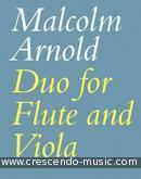 Duo for flute and viola. Arnold, Malcolm