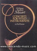 Concerti for wind instruments. Mozart, Wolfgang Amadeus