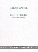 8 Pieces for four timpani. Carter, Elliott