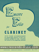 Encore folio for clarinet. Album