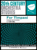 20th Century orchestra studies for timp.. Abel, Alan