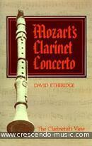 Mozart's clarinet concerto. Etheridge, David