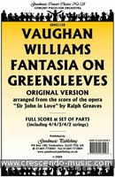 Fantasia on greensleeves (Score). Vaughan Williams, Ralph