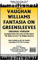 Fantasia on greensleeves (Score & parts). Vaughan Williams, Ralph