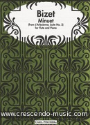 Minuet from l'arlesienne suite no.2. Bizet, Georges