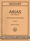 Arias from operas for soprano - Vol.2. Mozart, Wolfgang Amadeus