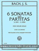 View a sample page! 6 Sonatas and partitas - Bach, Johann Sebastian
