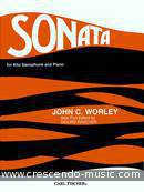 Sonata for alto saxophone and piano. Worley, John C.