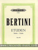 25 Easy studies, Op.100 (PETERS). Bertini, Enrico