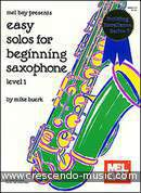 Easy solos for beginning saxophone. Album