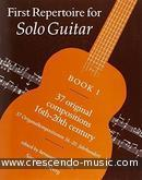 First repertoire for solo guitar - Vol.1. Album