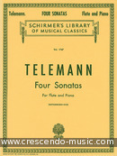 4 Sonatas for flute and piano. Telemann, Georg Philipp