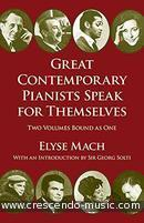 Great contemporary pianists speak. Mach, Elyse