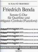 Sonate G-dur. Benda, Friedrich